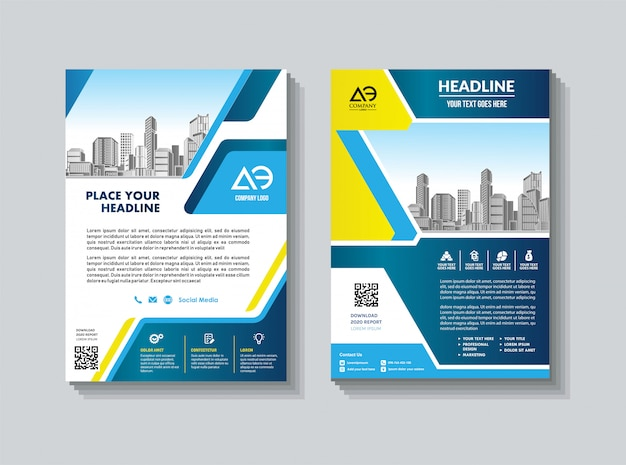 Cover template a4 size business brochure annual report cover