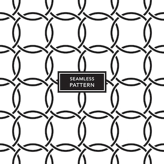 Cover template design with black and white connected circles background. seamless geometric pattern