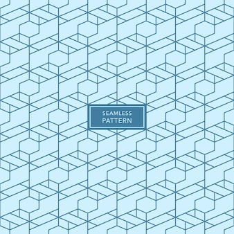 Cover template design with blue geometric pattern