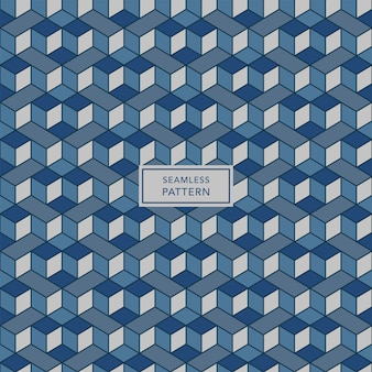 Cover template design with blue and gray geometric pattern