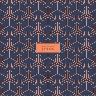 Cover template design with blue and orange geometric pattern. seamless.