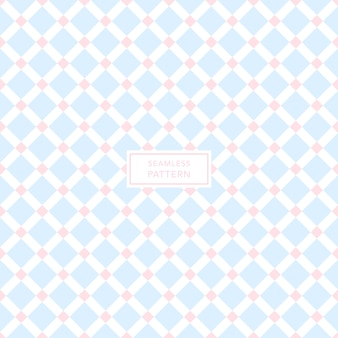 Cover template design with blue pink and white geometric pattern. seamless square background.