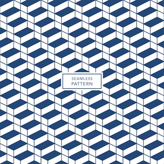 Cover template design with blue and white geometric pattern