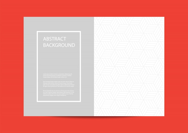 Cover template design with geometric shapes