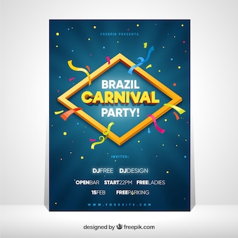 Cover template for brazilian carnival