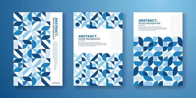Cover template with abstract geometric bauhaus design