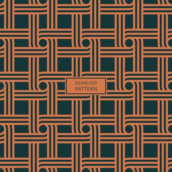Cover template with green and brown geometric pattern. seamless background.