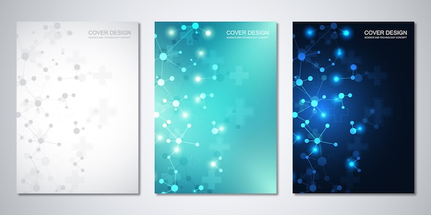 Cover template, with molecules background and neural network