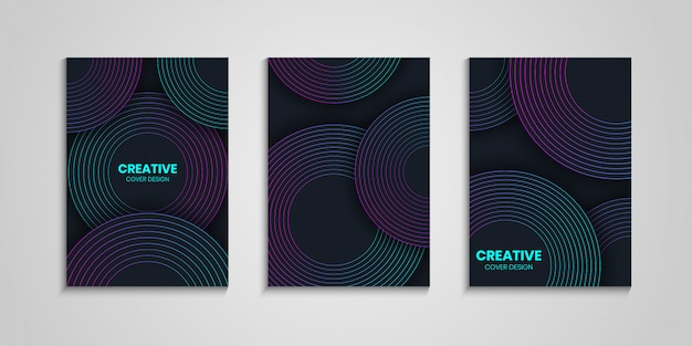 Cover templates with gradient circle