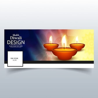 Cover with candles for diwali