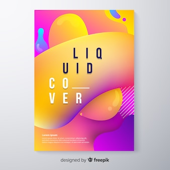 Cover with colorful liquid effect