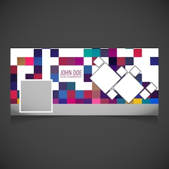 Cover with a pixelated background