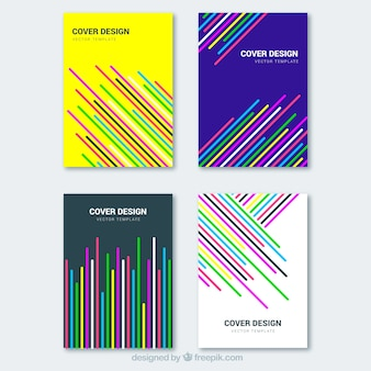 Covers collection with colorful lines