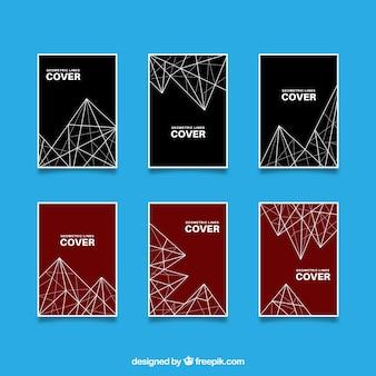 Collezione di copertine con colori e linee