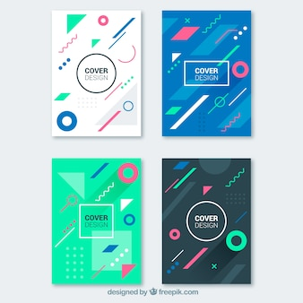 Covers collection with geometric shapes