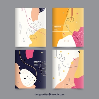 Covers collection with organic shapes
