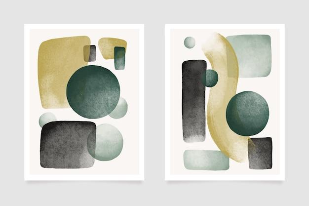 カバーデザインの抽象的な水彩図形