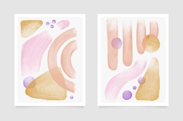 カバーデザインカラフルな水彩図形