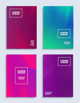 Covers modern abstract design templates set.