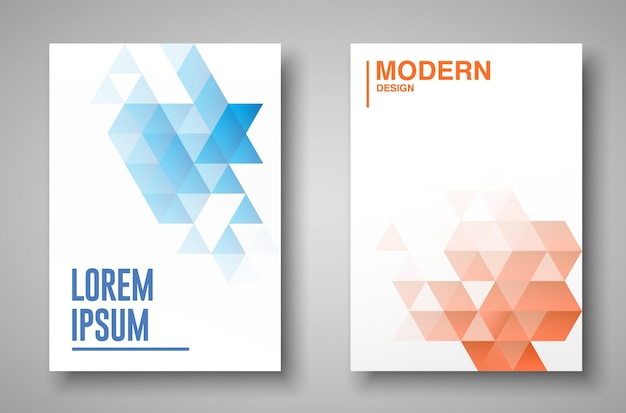 Covers template with geometric design