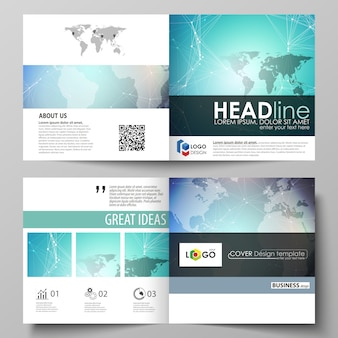 Covers templates for square brochure