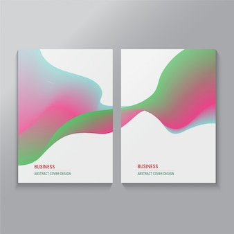 Covers wave modern cruve abstract composition poster.
