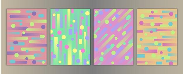 幾何学的な要素を備えたカバーは、子供のグリーティングカードのモックアップとテンプレートのa4プリントを設定します