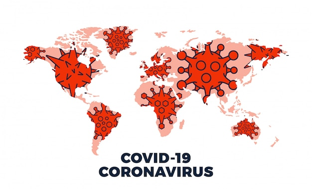 コロナウイルスcovid-19のマップで確認された症例は世界中で報告されています。コロナウイルス病2019の状況は世界中で更新されています。地図はコロナウイルスがどこに広がったかを示しています。図。