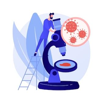 Illustrazione di vettore di concetto astratto covid-19. coronavirus in tutto il mondo, pandemia, vittime di covid-19, focolaio di infezione, statistiche, bilancio delle vittime, stato di emergenza, metafora astratta della misura di quarantena.