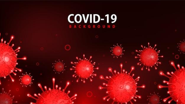 Covid-19赤背景、corona効果、covid19認識