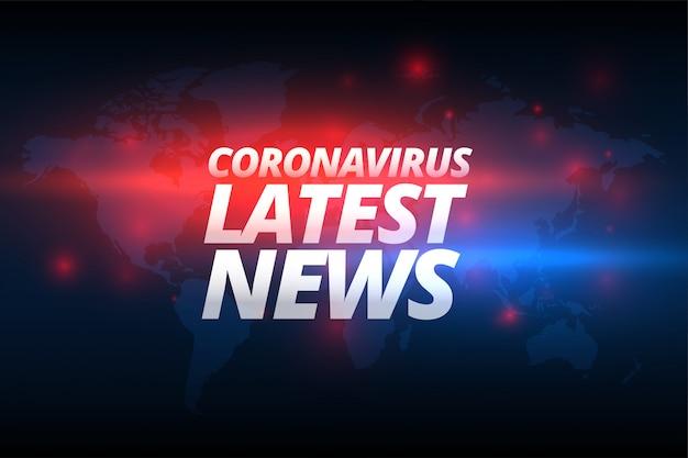 Covid-19 코로나 바이러스 최신 뉴스 배너 컨셉 디자인