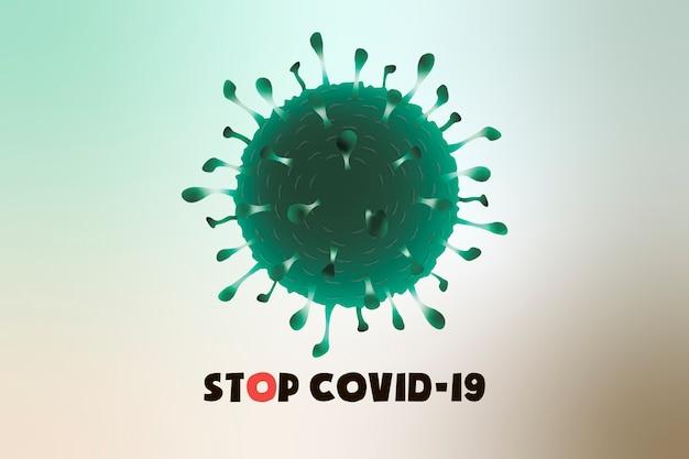 Covid-19, коронавирус на белом фоне, пандемия