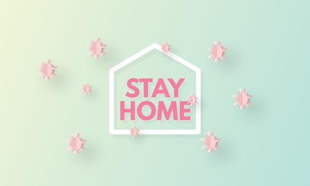 Covid-19コロナウイルス検疫は家で安全に滞在する、コロナウイルスアウトブレイク、医療