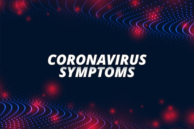 Covid-19 коронавирусные симптомы концепции баннер для ncov