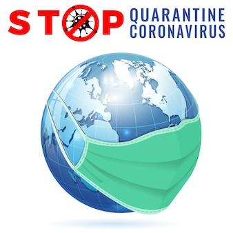 武漢の新型コロナウイルスパンデミックコビッド-19アウトブレイクが中国で発生した医療マスク検疫で一時停止の標識が付いたcovid-19コロナウイルス2019-ncovウイルス株の分離