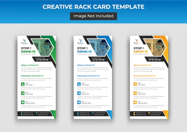 Covid-19 dl flyer or rack card template