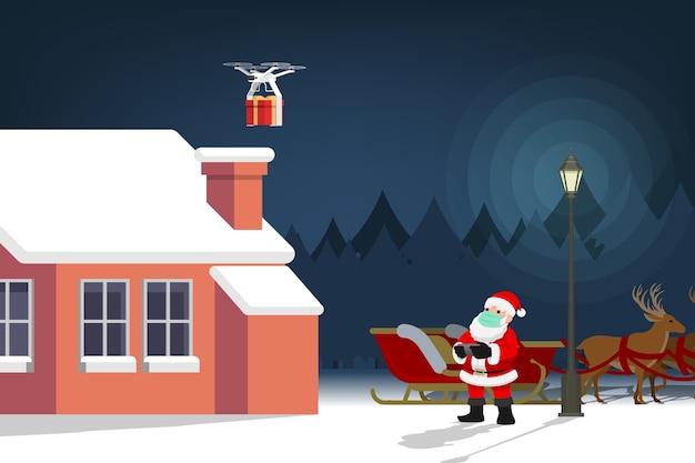 귀여운 크리스마스 캐릭터의 covid-19 인포 그래픽