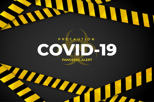 Covid-19 precaution background