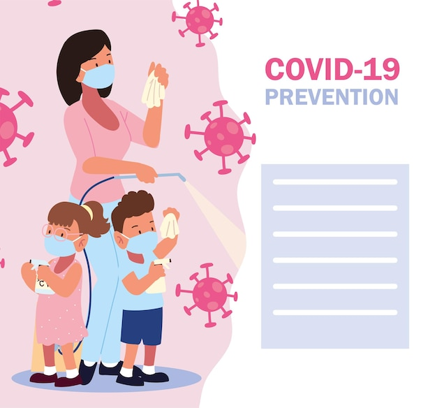 Covid 19 예방, 가족은 코로나바이러스에 맞서 싸웁니다