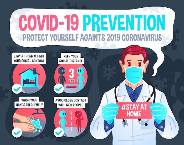 Covid-19 예방 infographic