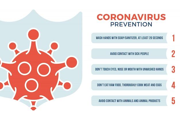 Концепция здравоохранения профилактики коронирусного вируса covid-19. коронавирусная пандемия sars fever 2019-ncov иллюстрация со значком щита