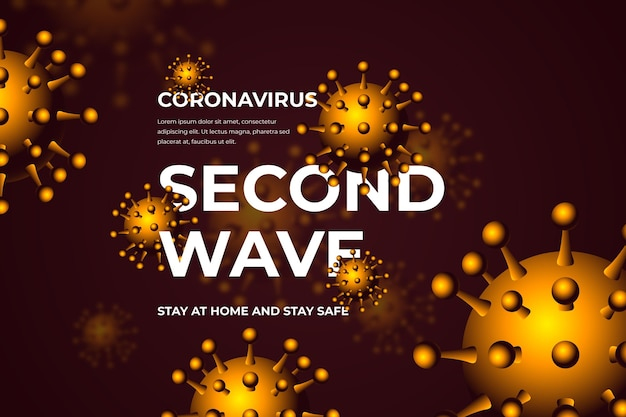 Covid-19 second wave concept background