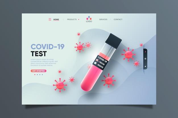 Pagina di destinazione del test covid-19