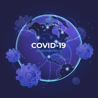 Концепция вируса covid-19