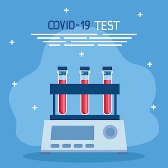 Covid 19 virus test tubes design of ncov cov and coronavirus theme