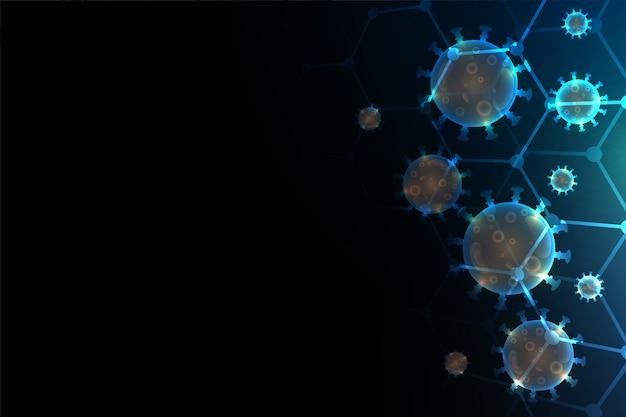 コロナウイルスcovid-19背景とテキストスペース
