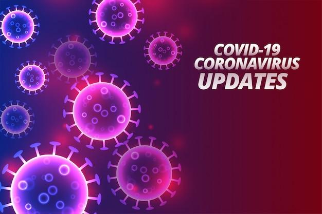 Covid-19コロナウイルスの更新とニュースの背景デザイン