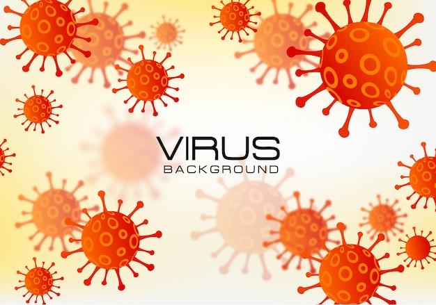 コロナウイルスcovid-19アウトブレイクバナーの背景デザイン