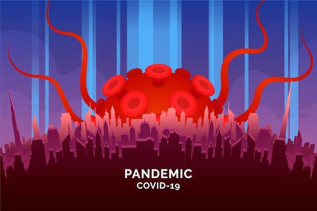 パンデミックコンセプトcovid-19
