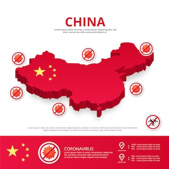 中国国covid-19インフォグラフィック